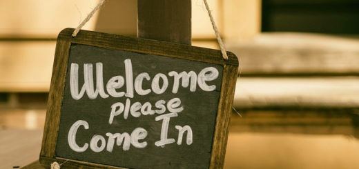 business-welcome-sign